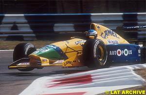 Schumacher in his first race for Benetton, Monza 1991