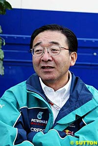 Osamu Goto, Chief Engine Engineer.