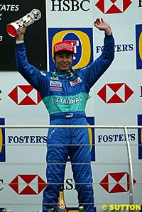 Heinz-Harald Frentzen scored the most recent podium for Sauber, at the 2003 United States Grand Prix