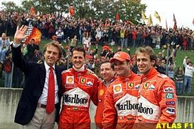 The Ferrari pack at Mugello