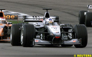 David Coulthard, today, at Indy