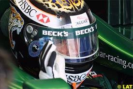 Eddie Irvine during practice