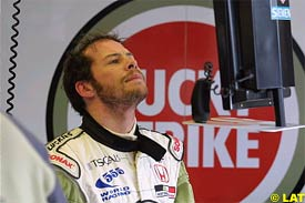 Jacques Villeneuve during today's practice session