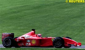 Michael Schumacher at Imola, today