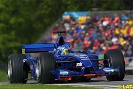 Jean Alesi at Imola, today