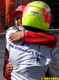 Michael and Ralf Schumacher, today