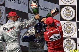Coulthard, Ralf Schumacher and Rubens Barrichello