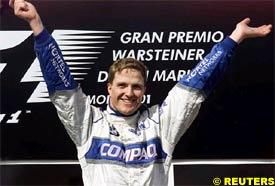 Ralf Schumacher celebrates his victory
