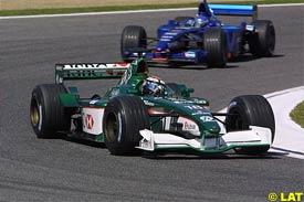 Eddie Irvine during the race