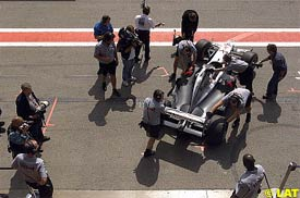 David Coulthard during today's session