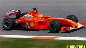 Schumacher in action, today
