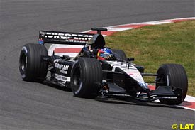 Fernando Alonso in action today