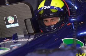 Luciano Burti during today's practice session