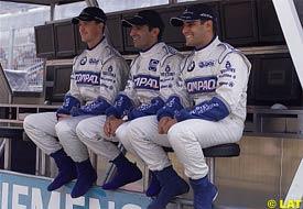 Ralf Schumacher, Marc Gene and Juan Pablo Montoya, today in Spain