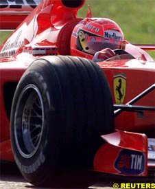 Michael Schumacher in action, today