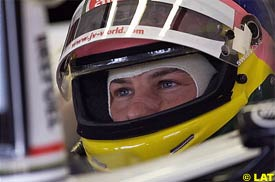 Jacques Villeneuve at Barcelona during qualifying