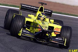 Heinz-Harald Frentzen during qualifying
