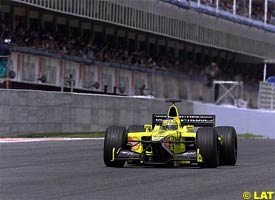 Jarno Trulli during the race, today
