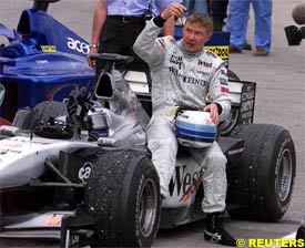 Hakkinen, after the race