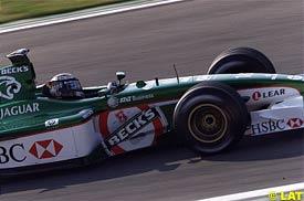 Eddie Irvine during the Spanish GP
