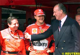 Jean Todt, Michael Schumacher and King Juan Carlos, today