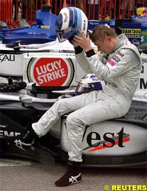 Hakkinen, after retiring from Sunday's race