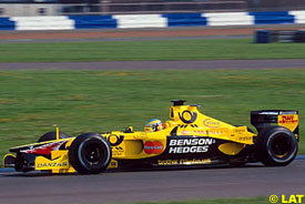 Alesi driving at Silverstone