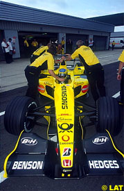 Jean Alesi, today at Silverstone
