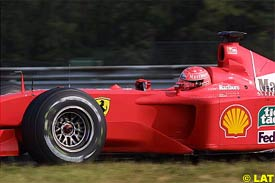 Michael Schumacher in action this morning
