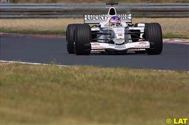 Jacques Villeneuve in action today
