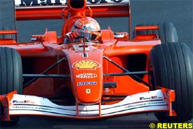 Michael Schumacher in action today