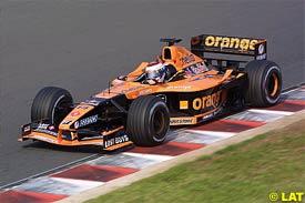Jos Verstappen in action during qualifying