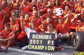 Schumacher and the Ferrari team