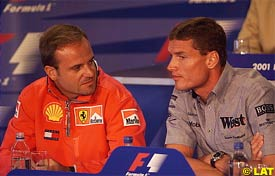 Barrichello and Coulthard, today