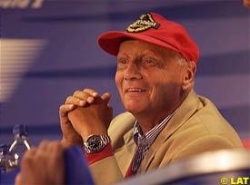 Niki Lauda, today in Belgium