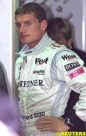 David Coulthard, today in Belgium