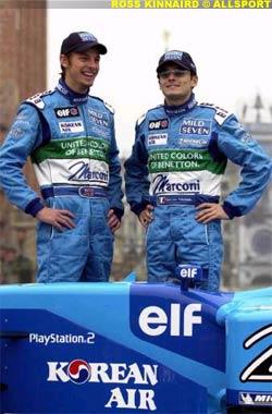 Jenson Button and Giancarlo Fisichella, today