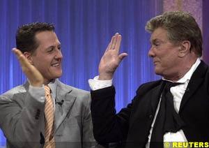 Schumacher with Tony Curtis on the Wetten Dass TV show