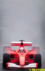 Michael Schumacher in action, today