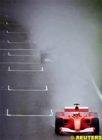Rubens Barrichello in action, today