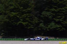 Ralf Schumacher in action at Hockenheim