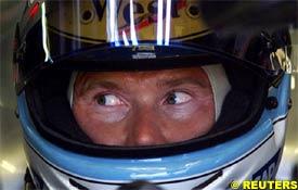 Mika Hakkinen during today's practice