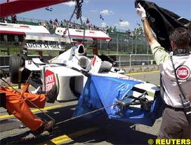 Villeneuve's car after the accident