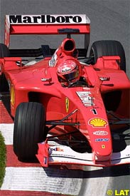Michael Schumacher drives during practice in Canada