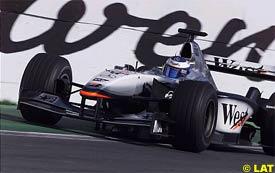 Mika Hakkinen during today's race
