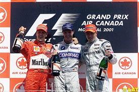 Michael and Ralf Schumacher with Hakkinen