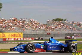 Jean Alesi in action in Canada