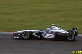 Darren Turner in action at Silverstone, today