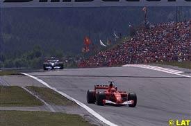 Michael Schumacher ahead of Montoya