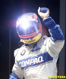 Montoya after finishing 2nd at the Ring